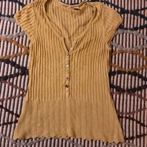 Chartreuse Knit Top